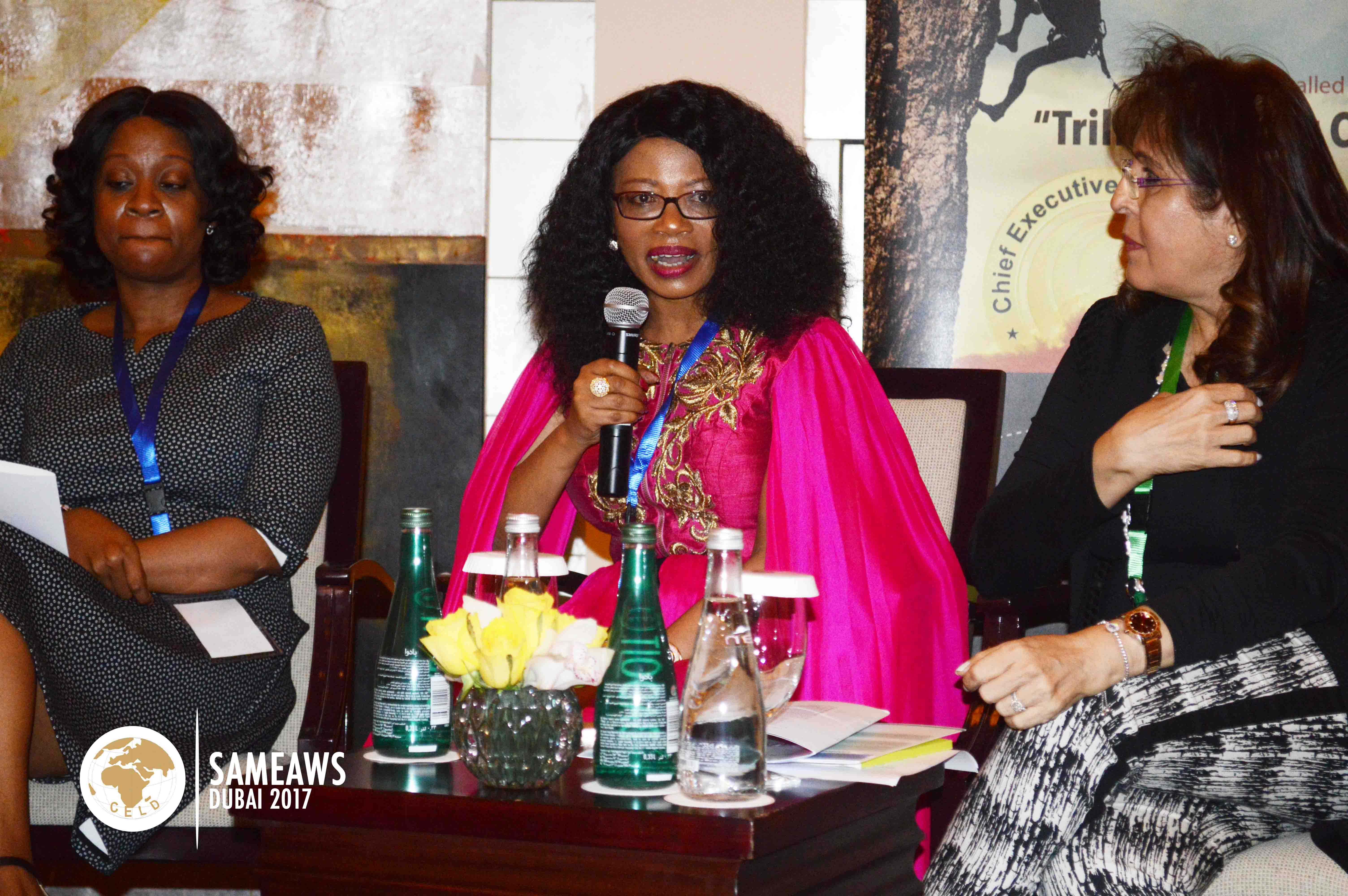 Esther Muchemi (Group CEO, Samchi Group, Kenya) Speaking as a panelist at SAMEAWS 2017