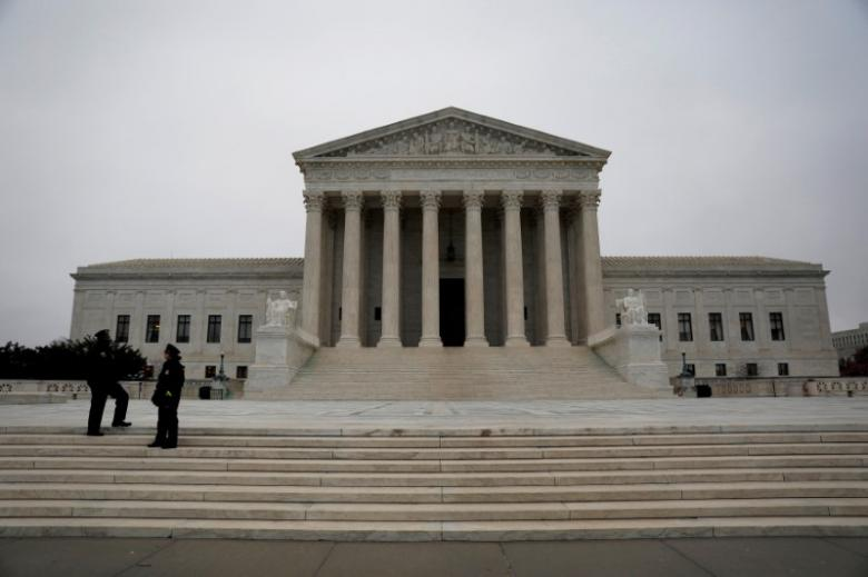 FILE PHOTO - The Supreme Court is seen in Washington, DC, U.S. April 7, 2017.  REUTERS/Aaron P. Bernstein