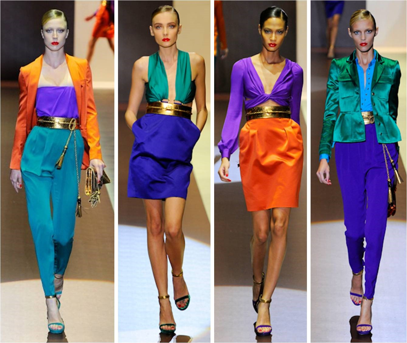 Bright Colour Blocking Trend