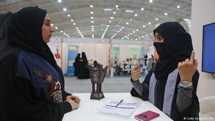 Saudi Arabia Women Work for the First Time