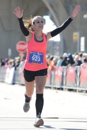 """""""My disease didn't stop me from running races""""- Megan Stashak"""