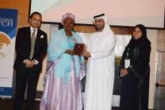 H.E. Aissata Mohammadu Issoufou receiving CELD's Global Female Inspirational Leadership Award during SAMEAWS 2017