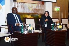 (L-R) Dr. Ken Giami (Dir. & member CELD), H.E Amna Al Nakhi (DG. Govt. of Sharjah)