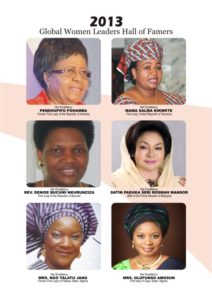 Global Women Leaders Hall of Famers 2013 A