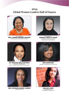 Global Women Leaders Hall of Famers 2014 A