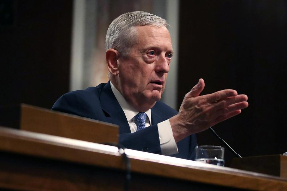 Defense Secretary nominee, Retired Marine Corps Gen. James Mattis.