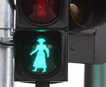 India: Mumbai Place Green Lights Women Figures On Traffic Signals